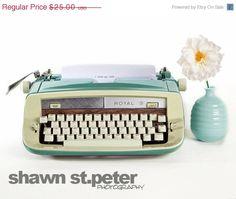 SUMMER BLOWOUT I Love blank Vintage TypeWriter by shawnstpeter, $17.50