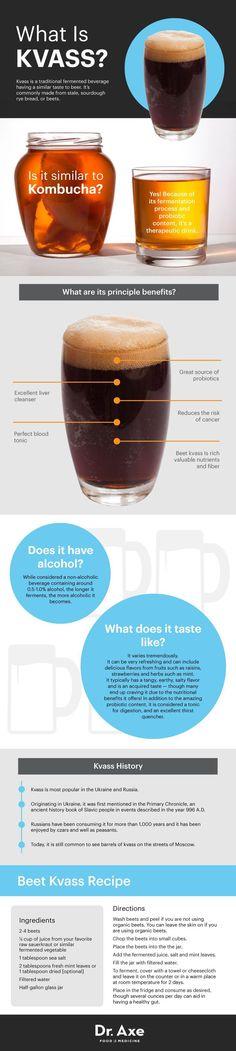 KVASS benefits, how to make it and recipes. #healthyliving #probiotics #healthyrecipes http://www.draxe.com