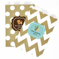 Jungle Baby Shower Candy Bags Favors for a Safari Baby Shower by Mod Party