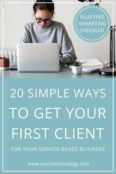 Not sure how to get clients for a new business? This list will help. Here are 20 simple actions you could take to make that elusive first client appear. Marketing Digital, Online Marketing, Marketing Ideas, Internet Marketing, Media Marketing, Content Marketing Strategy, Small Business Marketing, Business Planning, Business Tips