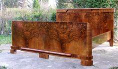 Art Deco Walnut Bed.