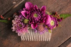 Not for me, but maybe for other women at the wedding if they want one / Dahlias and pin cushion flowers - early September