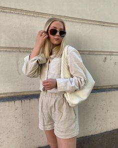 """Sophie Moss on Instagram: """"Linen outfits are a summer favourite 🤍"""""""