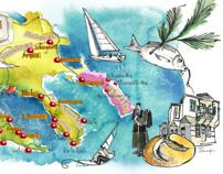 Halkidiki Macedonia  and Agion Oros Greece art map by ELENI TSAKMAKI, via Behance