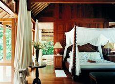 Como Shambhala Estate in Ubud, Bali - Vogue Living Qigong, Four Poster Bedroom, Pilates, Bali Retreat, Outdoor Baths, Vogue Living, Beautiful Hotels, House Beautiful, Beautiful Bedrooms