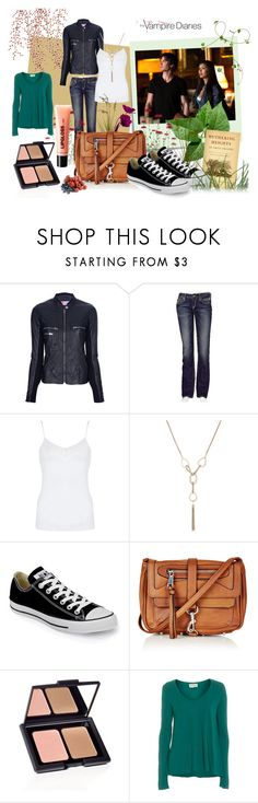 """""""Vampire Diaries s01e02"""" by kim-kardashian-style ❤ liked on Polyvore featuring Post-It, S.W.O.R.D., Rock Revival, Hanro, MOOD, Converse, Topshop, American Vintage, H&M and daily"""