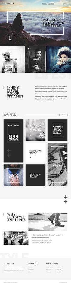 Website design and layout for Lifestyle Annuities. A user is able to select a…