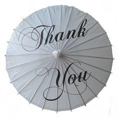 'Thank You' Wedding Paper Parasol from notonthehighstreet.com