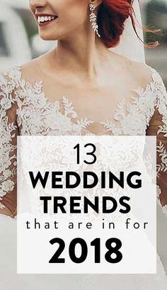 So, without further ado, read on to find out the top 2018 wedding trends that you must include when completing your wedding planning for next year.