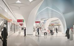 UNStudio designs stations for phase one of the doha metro