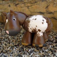 chestnut appaloosa painted clay horse by SpottedHorseKorral