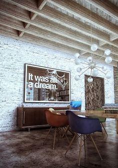 Art House Home Interior Design Decorating Dwell Contemporary Antique Vintage Modern Inspiration Ideas Furniture Contemporary NYC Loft New York Real Estate Home Interior, Interior Architecture, Interior And Exterior, Interior Decorating, Interior Modern, Bathroom Interior, Home Living, Living Spaces, Living Room