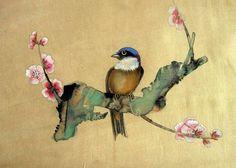 Japanese Brush Painting | Lorem Ipsum: Chinese painting on silk