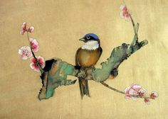 Japanese Brush Painting   Lorem Ipsum: Chinese painting on silk