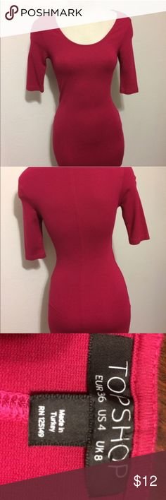 Topshop pink purple fuscia Bodycon Sexy Dress! 4 ❤️ Topshop ❤️ Bodycon Sexy Dress! Size 4 Show off your gorgeous feminine curves in this sexy Topshop dress and make heads turn!  Excellent used condition, only worn once and received tons of compliments! ❤️😘 Topshop Dresses Mini