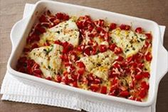 Cheesy Tomato Fish Bake