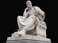 Yükle - Herodot Viyana'nın Meclis, siyah arka plan üzerine izole heykeli - Stok İmaj #114479678
