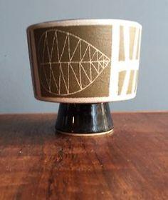 Vintage-Mid-Century-Modern-1950s-Planter-Ceramic-Pottery-Exc-Graphics