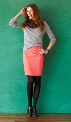 This is a cure idea with the basic color and bright skirt
