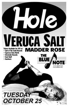 - Hole - Veruca Salt - Why couldn't I have been there Band Posters, Rock Posters, Concert Posters, Pop Rock, Rock N Roll, Veruca Salt Band, Love The 90s, My Love, Russ Mayer