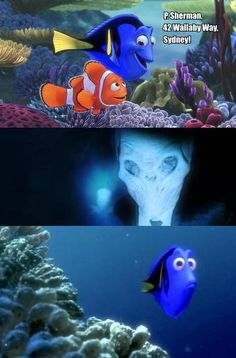 Love this nemo meets silence (doctor who)< ----- the Silence are scary, the fact that you think this is cute frightens me.