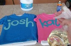 bleach t-shirts.  seems easy and fun