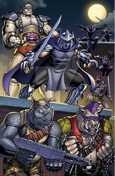 Thanks to Josh Perez for the slick colors on this tmnt fan art Tmnt copyright Nickolodeon. Ninja Turtles Art, Teenage Mutant Ninja Turtles, Shredder Tmnt, The Shredder, Comic Books Art, Comic Art, Gi Joe, Arte Dc Comics, 90s Cartoons