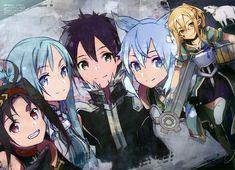 Sword Art Online, Asuna,Yuuki, Kirito, Silica, Asuna