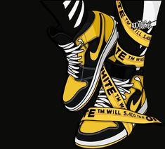 Iphone Wallpaper Off White, Nike Wallpaper Iphone, Hype Wallpaper, Jordan Shoes Wallpaper, Sneakers Wallpaper, Dope Cartoons, Dope Cartoon Art, Arte Dope, Dope Art