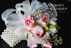 Corsage by Andrew's Garden, Wheaton, IL.