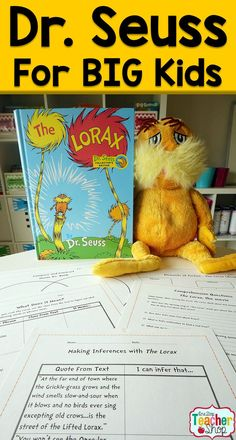 "Read all about my language arts lessons that are designed around the book and movie ""The Lorax"". Perfect teaching lessons for Upper Elementary!"