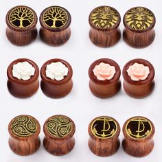 Find More Body Jewelry Information about 6pair Wood Ear Pierces Dilators Flesh Tunnels Plugs Ear Skin Expansions Charm Earring Stretcher Plug Body Piercing Jewelry,High Quality earrings 18k,China jewelri Suppliers, Cheap jewelry mount from Longbeauty Official Store on Aliexpress.com