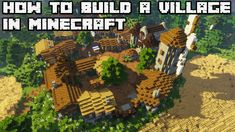 How to build an Awesome Village in Minecraft 1 13 Vanilla #2 [WORLD DOWN in 2020 Minecraft Village Minecraft designs