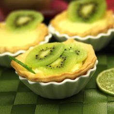 Tartelettes au kiwis et citron vert
