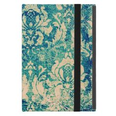 VIntage  Green Blue Floral  Damask iPad Mini Cover  | Visit the Zazzle Site for More: http://www.zazzle.com/?rf=238228028496470081 [Referral Link]