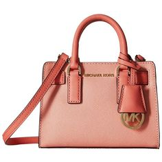 c84ab303dfafd MICHAEL Michael Kors Dillon Top Zip Extra Small Crossbody (Peach Pink.
