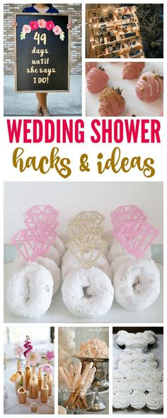 I have some AMAZING Wedding Shower Hacks & Ideas for the Bride to Be for you today! If you've got a Wedding Shower coming up, check out these awesome ideas! Bridal Shower Planning, Bridal Shower Party, Bridal Showers, Wedding Planning, Bridal Shower Ideas Spring, Best Bridal Shower Games, Signs For Bridal Shower, Desserts For Bridal Shower, Cupcakes For Bridal Shower