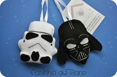 Star Wars Felt Halloween Ornaments, Felt Ornaments, Star Wars Christmas, Christmas Crafts, Natal Star Wars, Craft Presents, Felt Crafts Patterns, Star Wars Crafts, Butterfly Template