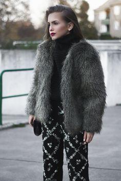 Felljacke Herbst Trend - Fashion Blogger