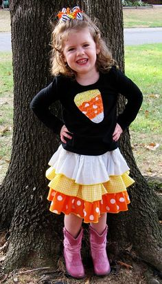 Candy corn outfit