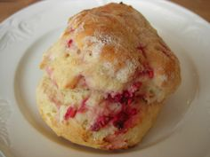 Raspberry and white chocolate scone at The Coffee Spot, Biggar