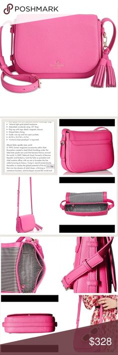 Kate Spade Orchard Street Pink NWT. Kate Spade Penelope Orchard Street Tulip Pink NWT.  This color is sold out at Neiman Marcus.                             First three photos are from the Internet.  NO TRADES.  Make your offer NOW! Retail $328+tax kate spade Bags