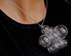 Glamorous Glass by Petra Glasova: Share my fascination with dreamy bubble glass jewellery. Clear glass bubble jewellery set containing a necklace, a bracelet and earrings. Glass Jewelry, Jewelry Sets, Jewellery, Types Of Earrings, Necklace Designs, Petra, Fascinator, Clear Glass, Bubbles