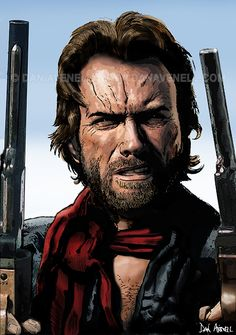 Clint - The Outlaw Josey Wales. buy a print at http://www.danavenell.com/clint-the-outlaw-josey-wales/