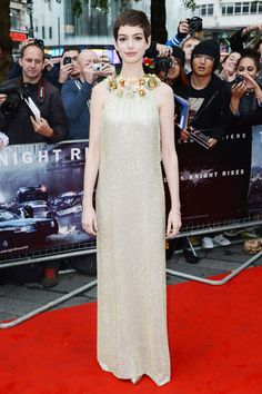 """Anne Hathaway at the London premiere of """"The Dark Knight Rises"""""""