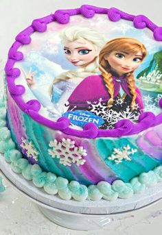 Edible image design frozen disney princess by CrazyCakePopLady
