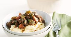 Beef And Guinness Stew by Taste. Celebrate St Patrick's Day with this simple but hearty Irish stew. Beer Recipes, Slow Cooker Recipes, Dinner Recipes, Cooking Recipes, Savoury Recipes, Party Recipes, Slow Cooking, Recipies, Guinness Stew Recipe