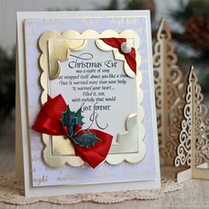 Merry Christmas Card Making Ideas by Becca Feeken using Amazing Paper Grace Emmeline Treillage Die and Graceful Corners Die - see full supply list at www.amazingpapergrace.com/?p=32995