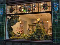 Moss dress. London, Regent St. store.