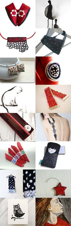 Beautiful Christmas Gift ideas in red and black. A Time of Giving 2 by Anita T. on Etsy--Pinned with TreasuryPin.com